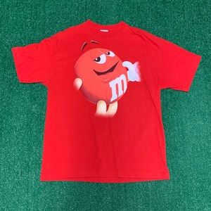 Vintage M&M Red Tee Size XL 90s